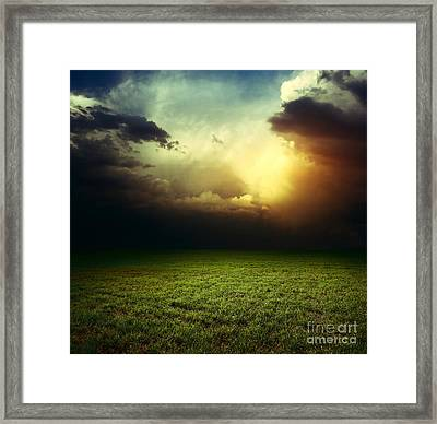 Dark Clouds Framed Print by Boon Mee