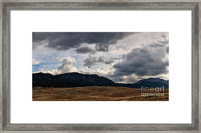Framed Print featuring the photograph Dark Clouds On The Horizon by Charles Kozierok