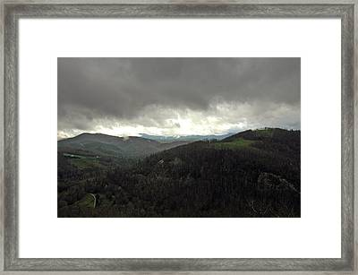 Dark Clouds Over Cashiers Framed Print
