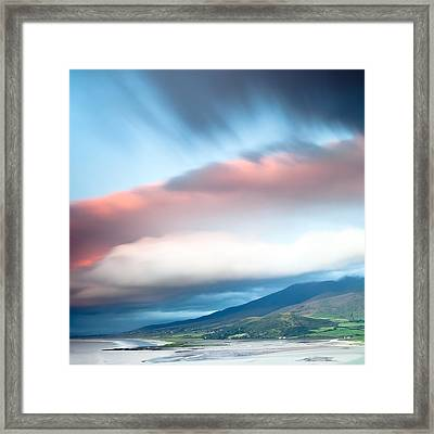 dark clouds over Irish coast Dingle peninsula Framed Print by Dirk Ercken