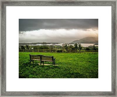 Dark Clouds Over Killarney Lakes Framed Print