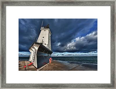 Dark Clouds Framed Print by Sebastian Musial