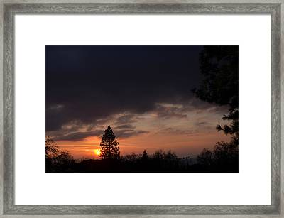 Dark Clouds Framed Print