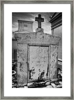 Dark Cross Against Sky Framed Print