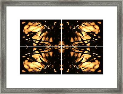 Dark Crossing Framed Print
