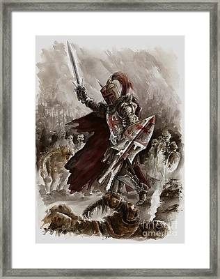 Dark Crusader Framed Print by Mariusz Szmerdt