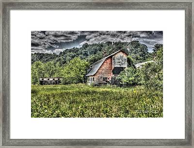 Dark Days For The Farm Framed Print