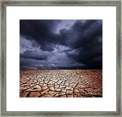 Dark Dead Valley Framed Print by Boon Mee