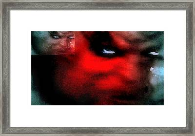 Dark Distored Demon Framed Print by Jason Lees