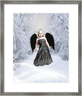 Dark Fairy Framed Print by ChelsyLotze International Studio