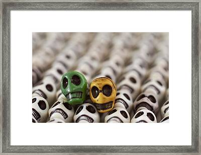 Dark Green And Yellow Framed Print by Mike Herdering