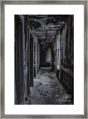 Dark Halls Framed Print by Margie Hurwich