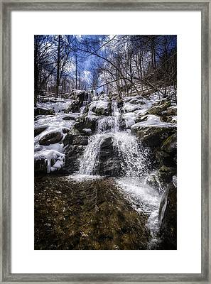 Dark Hollow Falls Framed Print