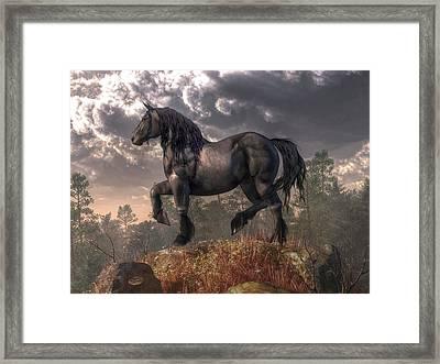 Dark Horse Framed Print by Daniel Eskridge