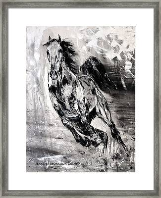 Dark Horse Contemporary Horse Painting Framed Print