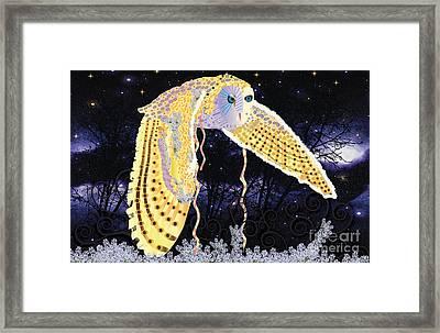Dark Kindred Owl Framed Print