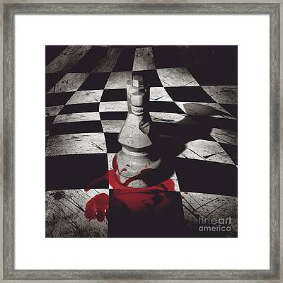 Dark Knight Of The Grand Chessboard Framed Print