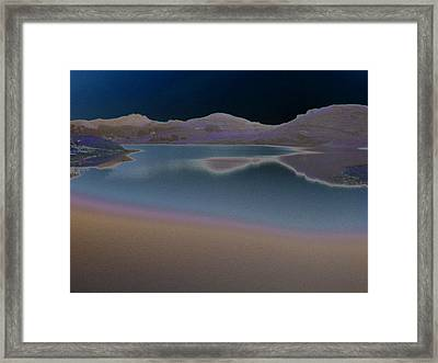 Framed Print featuring the photograph Dark Lake by Aurora Levins Morales