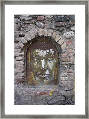 Dark Man Framed Print by Jan Katuin