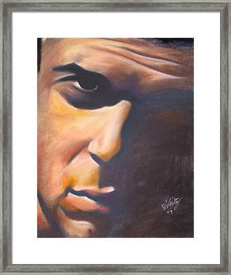 Dark Man Framed Print