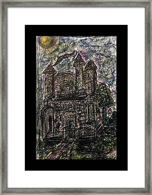 Dark Mansion Framed Print by Mimulux patricia no No