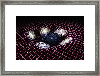 Dark Matter And Galaxies Framed Print