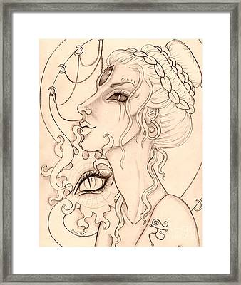 Dark Mother Sketch Framed Print by Coriander  Shea