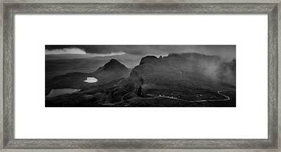 Dark Mountains Framed Print by Yuri Fineart