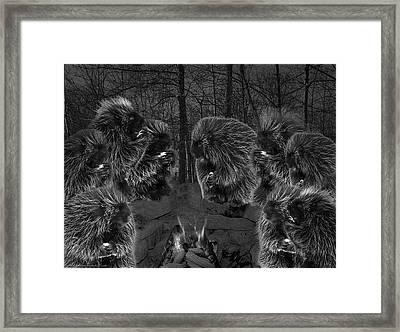 Dark Night Picky Eaters In The Moonlight Framed Print by LeeAnn McLaneGoetz McLaneGoetzStudioLLCcom