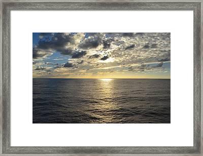 Dark Ocean Sunset 2 Framed Print
