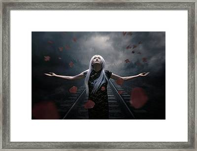 Dark Of Beauty Conceptual Framed Print