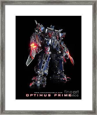 Dark Of The Moon Optimus Prime Framed Print