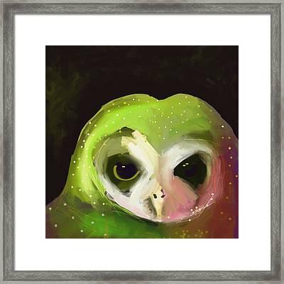 Dark Owl Framed Print