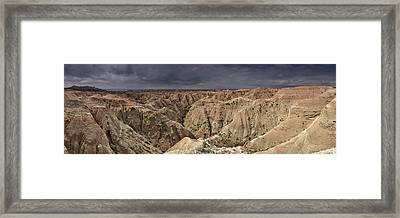 Dark Panorama Over The South Dakota Badlands Framed Print