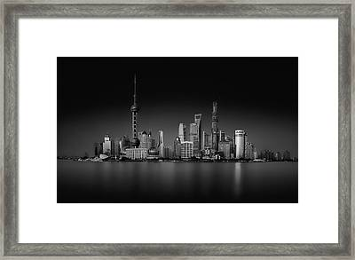 Dark Pudong Framed Print