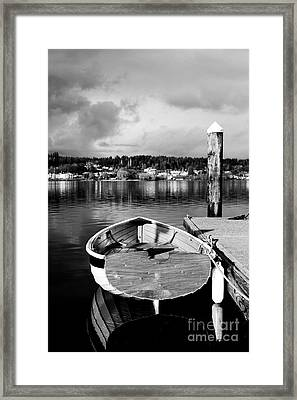Dark Ro Framed Print by Alison Tomich