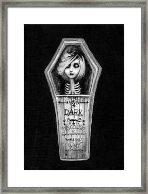 Dark Framed Print by Rouble Rust