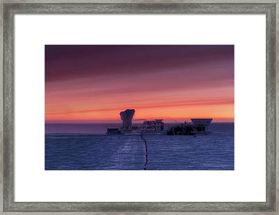 Dark Sector Lab Telescopes Framed Print by Nsf/steffen Richter/harvard University