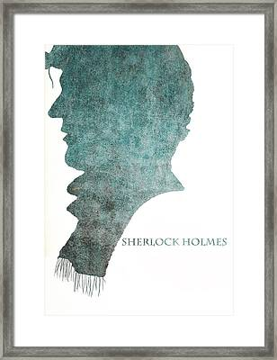 Dark Sherlock Holmes Framed Print by Georgia Fowler