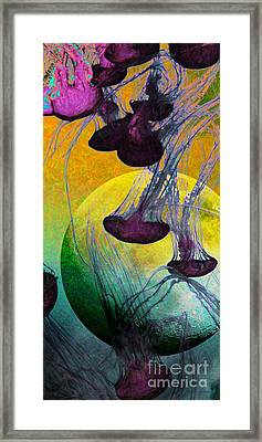 Dark Side Of The Moon 5d24939 Painterly M111 Long Framed Print by Wingsdomain Art and Photography
