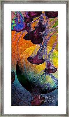 Dark Side Of The Moon 5d24939 Painterly M56 Long Framed Print by Wingsdomain Art and Photography
