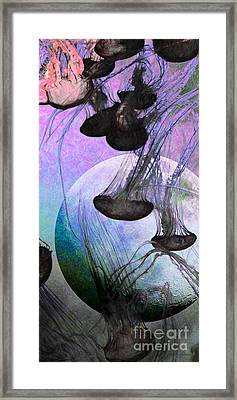 Dark Side Of The Moon 5d24939 Painterly P180 Long Framed Print by Wingsdomain Art and Photography