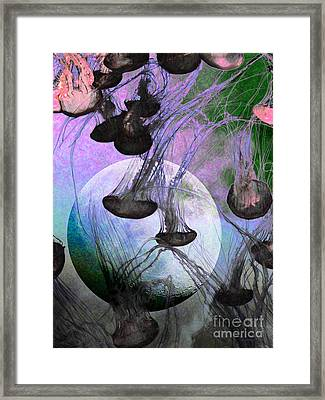Dark Side Of The Moon 5d24939 Painterly P180 Framed Print by Wingsdomain Art and Photography