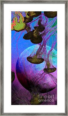Dark Side Of The Moon 5d24939 Painterly P88 Long Framed Print by Wingsdomain Art and Photography