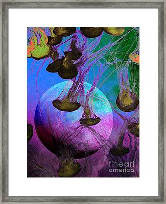 Dark Side Of The Moon 5d24939 Painterly P88 Framed Print by Wingsdomain Art and Photography