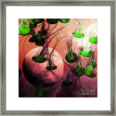 Dark Side Of The Moon 5d24939p88 Square Framed Print by Wingsdomain Art and Photography