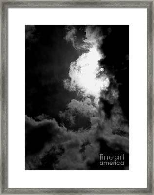 Dark Side Of The Sun Framed Print by Vicki Spindler