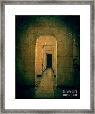 Dark Sinister Hallway Framed Print by Edward Fielding