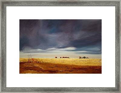 Framed Print featuring the painting Dark Sky by William Renzulli