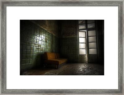 Dark Sofa Framed Print